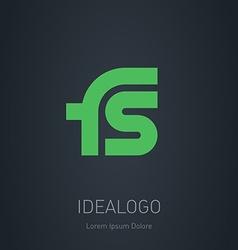 FS initial logo FS initial monogram logotype vector image