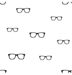 Glasses seamless pattern vector