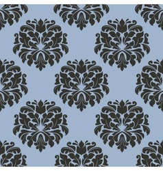 Gothic floral seamless pattern with gray flowers vector