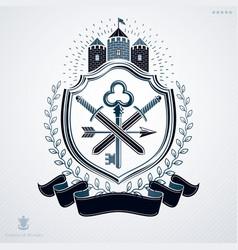 Heraldic design vintage emblem vector