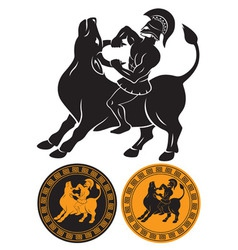 Hercules and Bull vector image