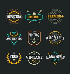Hipster Emblems 1 vector image
