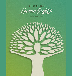 International human rights card for people help vector