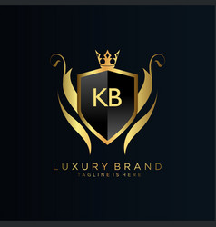 Kb letter initial with royal templateelegant vector