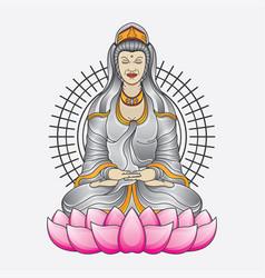 kwan yin goddess tattoo vector image