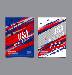 layout design usa flag template banner vector image