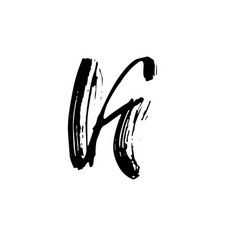 Letter k handwritten by dry brush rough strokes vector