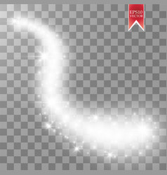 magic glowing spark swirl trail effect isolated on vector image