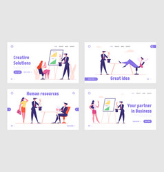 marketing trick and business magic landing page vector image