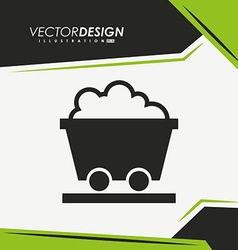 Mining industry icon design vector