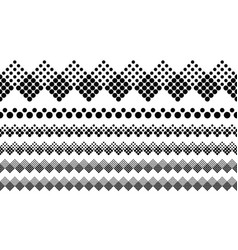 Monochrome abstract dotted pattern divider line vector