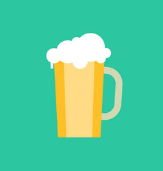 mug beer with froth cold refreshing drink vector image