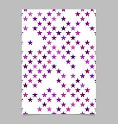 pentagram pattern poster design - cover background vector image