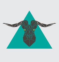 Polygonal head mountain sheep vector
