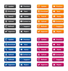 Rectangular web buttons vector
