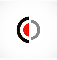 round target shape logo vector image
