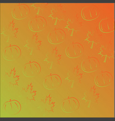 seamless pattern with orange pumpkins and vector image