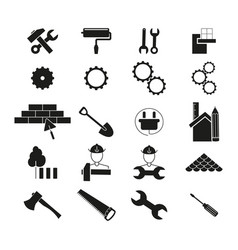 set improvement repair icons black vector image