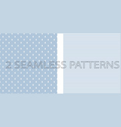 set of two seamless patterns in blue color vector image