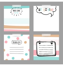 Set with stickers To do list vector