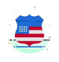 shield sign usa security abstract flat color icon vector image