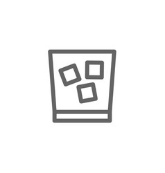 simple glass of whiskey line icon symbol and sign vector image