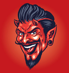 Smilling devil head vector