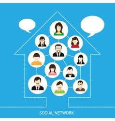 Social network house vector