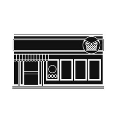 Store shop building vector
