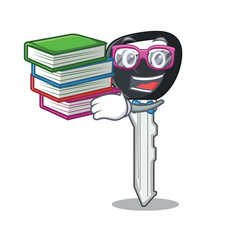 Student with book car key on clipping path vector