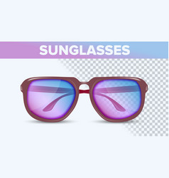stylish color sunglasses trendy 3d shades vector image