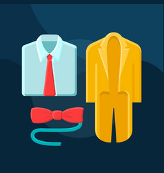 suits flat concept icon vector image