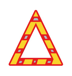 Triangle attention symbol to security precuation vector