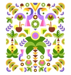 Tropical Flowers Graphic Design for t-shirt vector image