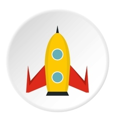 Universal rocket icon flat style vector