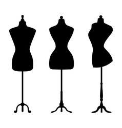 Vintage mannequins vector