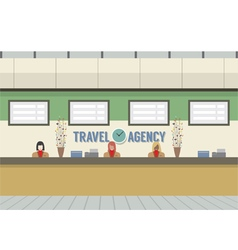 Front Of Travel Agency Counter vector image vector image