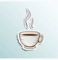 icon cup of coffee vector image