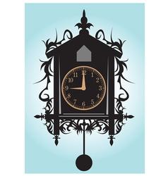 Pendulum clock vector image vector image