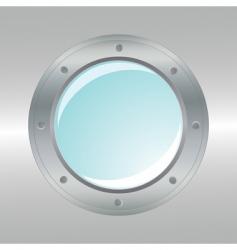 Vector realistic metallic porthole vector