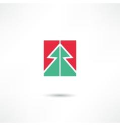 conifer icon vector image