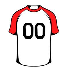 hockey sweater icon icon cartoon vector image vector image