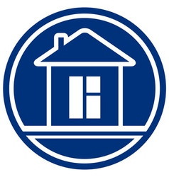 icon with house and window interior symbol vector image