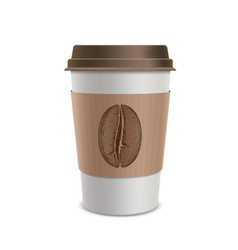 plastic disposable cups of coffee design of the vector image