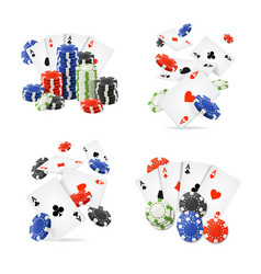 realistic detailed 3d casino set vector image