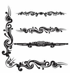 tribal scroll flourish vector image