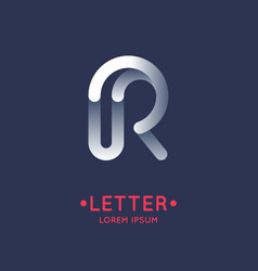 modern linear logo and sign the letter r vector image vector image