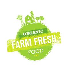 organic farm fresh healthy food eco green vector image vector image