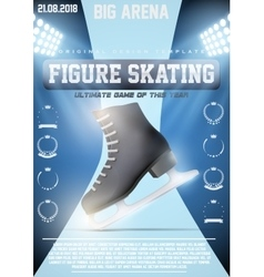 Poster Template of Ice figure Skating vector image vector image