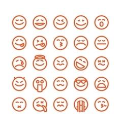 Set of emoji emoticons vector image vector image